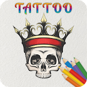 Tattoo Designs Drawing & Tattoo Coloring Book Game