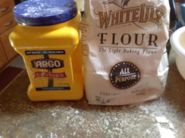 Sift flour, cornstarch, baking powder and baking soda into a separate medium size bowl....