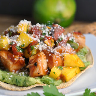 BBQ Margarita Chicken Tostadas with Sweet Jalapeño Salsa