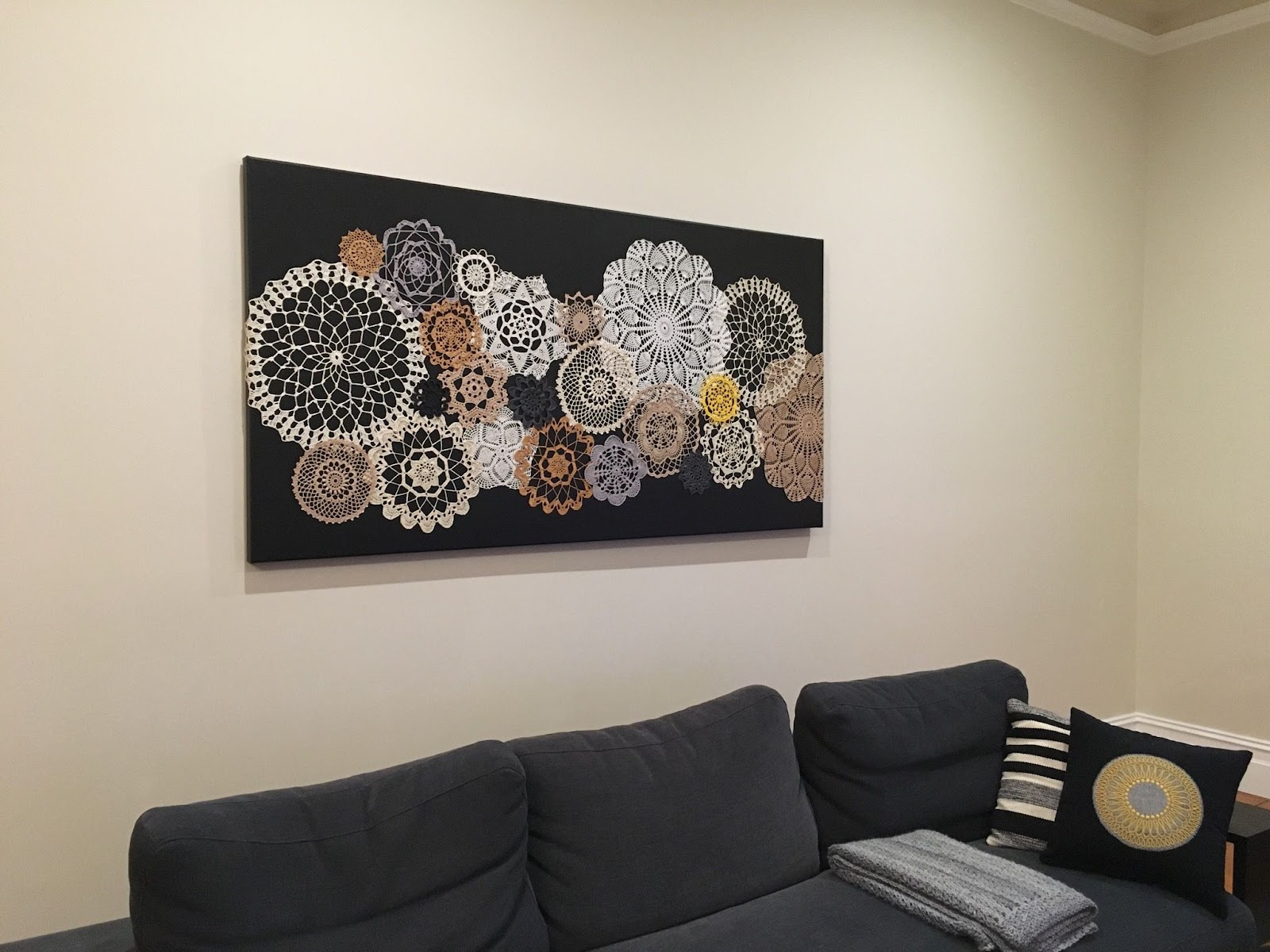 Doilies Craft Wall Hanging