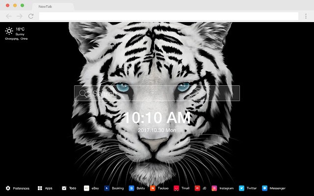 Tiger New Tab HD Wallpapers Pop Animals Theme