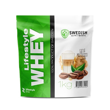 Swedish Supplements Lifestyle Whey Protein 1kg - Latte Macchiato