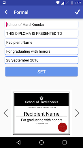 Certificate Maker Creator Screenshot