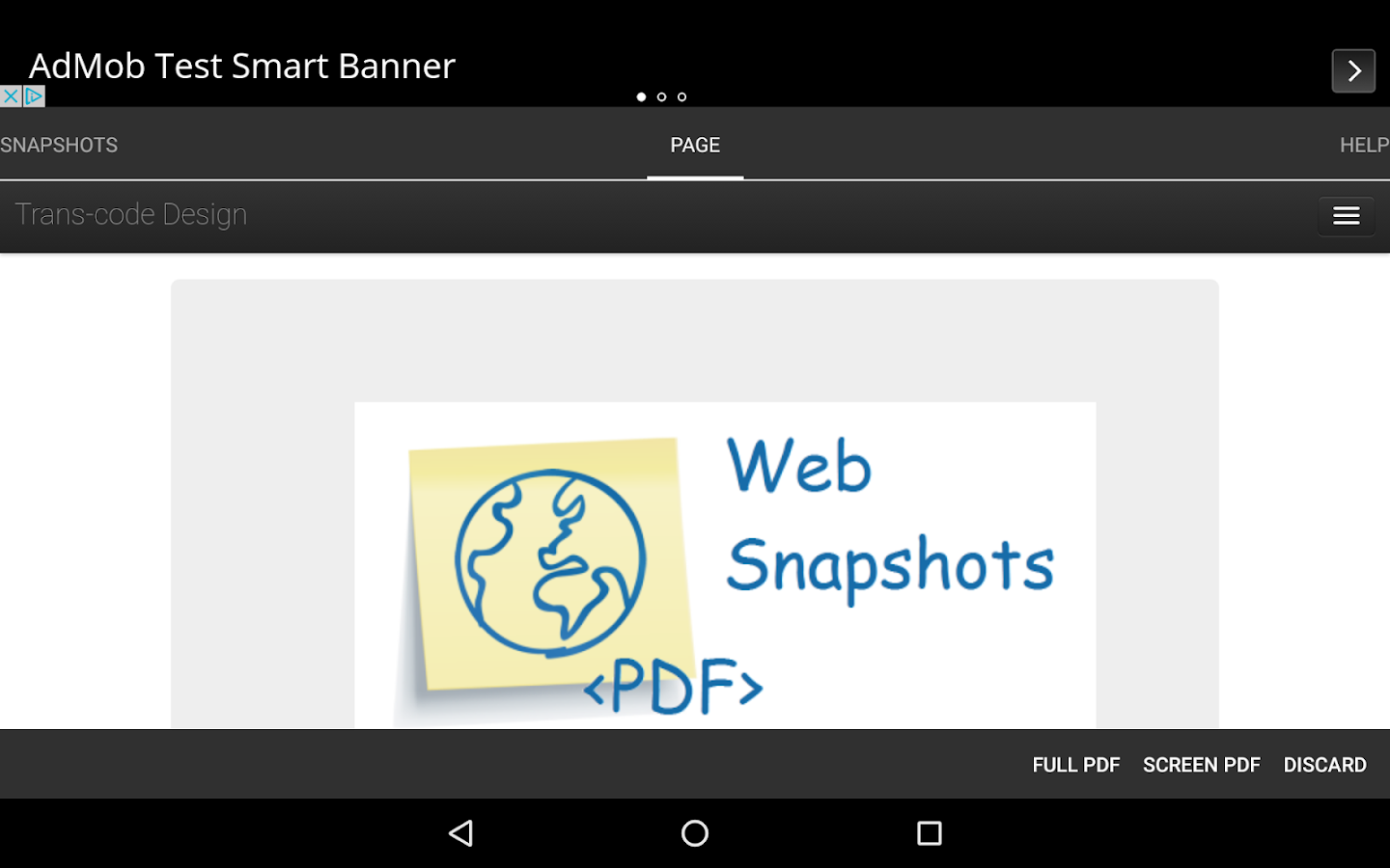 Web Snapshots- screenshot
