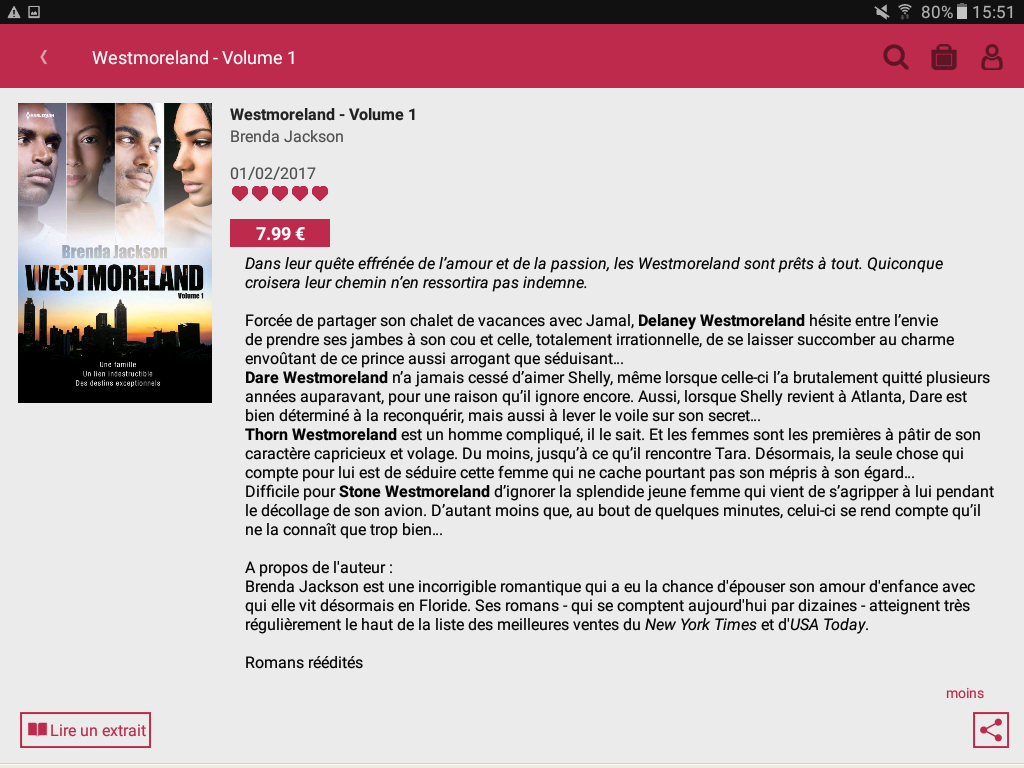 Harlequin : ebooks et romance- screenshot