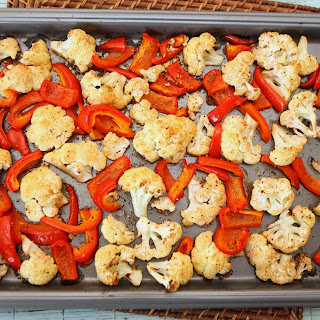 Roasted Cauliflower & Red Peppers