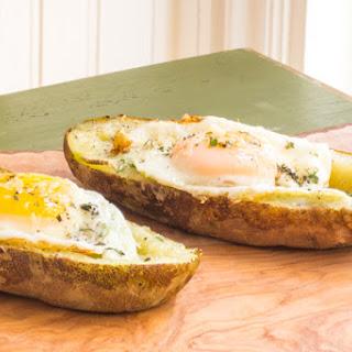 Breakfast Egg Stuffed Potato Skins