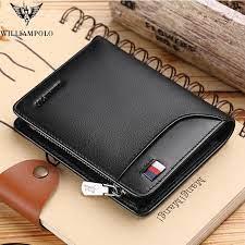 Genuine Leather Men Wallet with Card Holder Man Luxury Short Wallet Purse  Zipper Wallets Casual Standard Wallets pl293|Wallets| - AliExpress