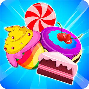 Cake and candy match game Icon