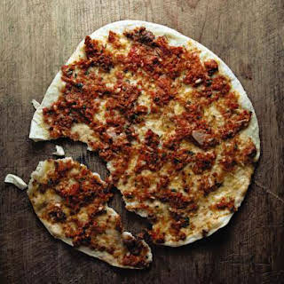 Turkish Flatbread with Lamb and Tomatoes (Lahmacun).