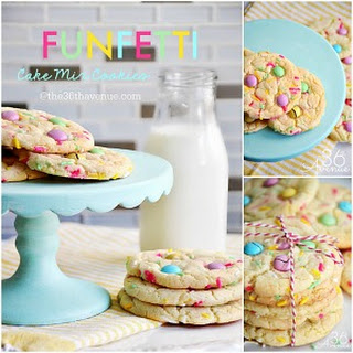 Cookie Recipes – Funfetti Cake Mix Cookies