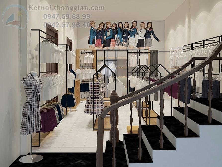 thiết kế nhà sách 2 tầng