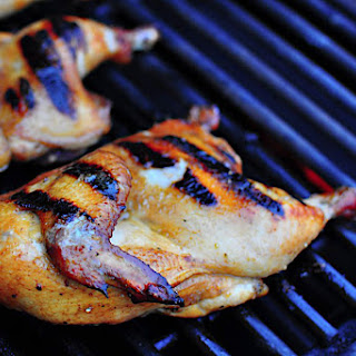 Grilled Split Cornish Game Hens, Brinerated