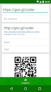 goo.gl URL Shortener (Unofficial) Screenshot