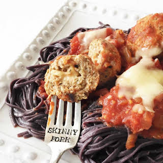 Scary Good Stuffed Meatballs & Garlicky Sauce (Crock Pot).