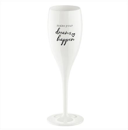 CHEERS NO.1 Champagneglas Make your dreams happen