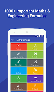 Maths Formulas with Calculator Screenshot