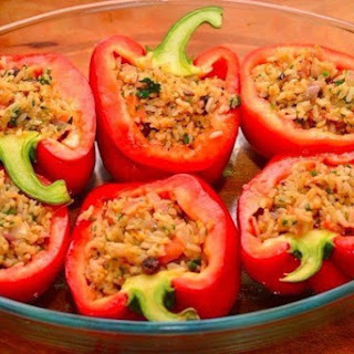 Stuffed Peppers And Tomatoes