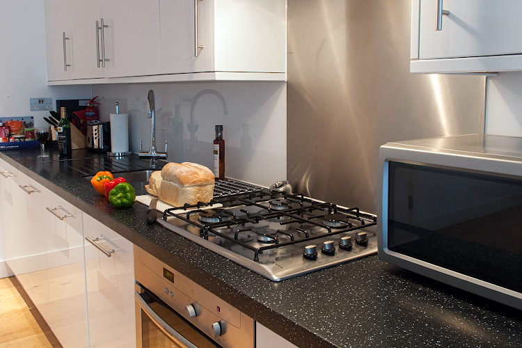 Fully equipped kitchen at Wellington Street Apartments