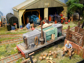 Photo: 021 A powerful and unusual diesel locomotive growls into the yard at Peter Marshall's Two Sisters Farm.