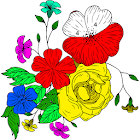 Adult Color by Number Book - Paint Flowers Pages icon