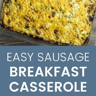 Easy Sausage Breakfast Casserole.