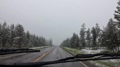 Photo: Definitely snow now