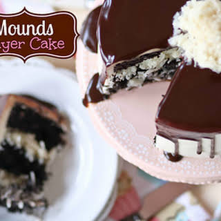 Mounds Layer Cake.