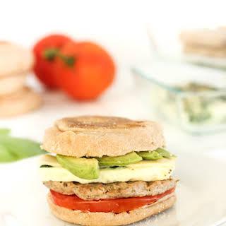 Healthy Meal Prep Breakfast Sandwiches.