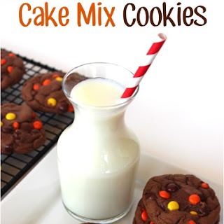 Reese's Pieces Chocolate Cake Mix Cookies