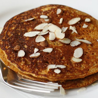 Maple-Cinnamon Sweet Potato Pancakes.