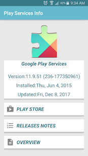 play store & play service info - náhled