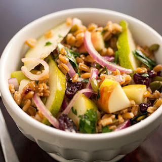Healthy Fall Farro Salad.