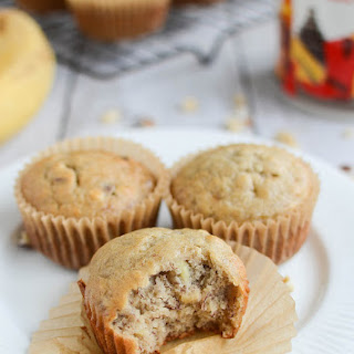 Sour Cream Banana Nut Muffins.