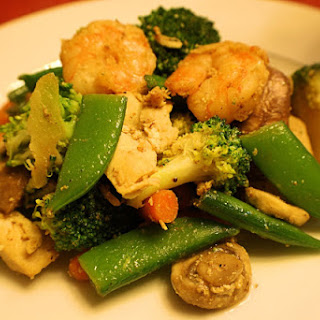 Shrimp and Chicken Stir-Fry. Low Sodium!