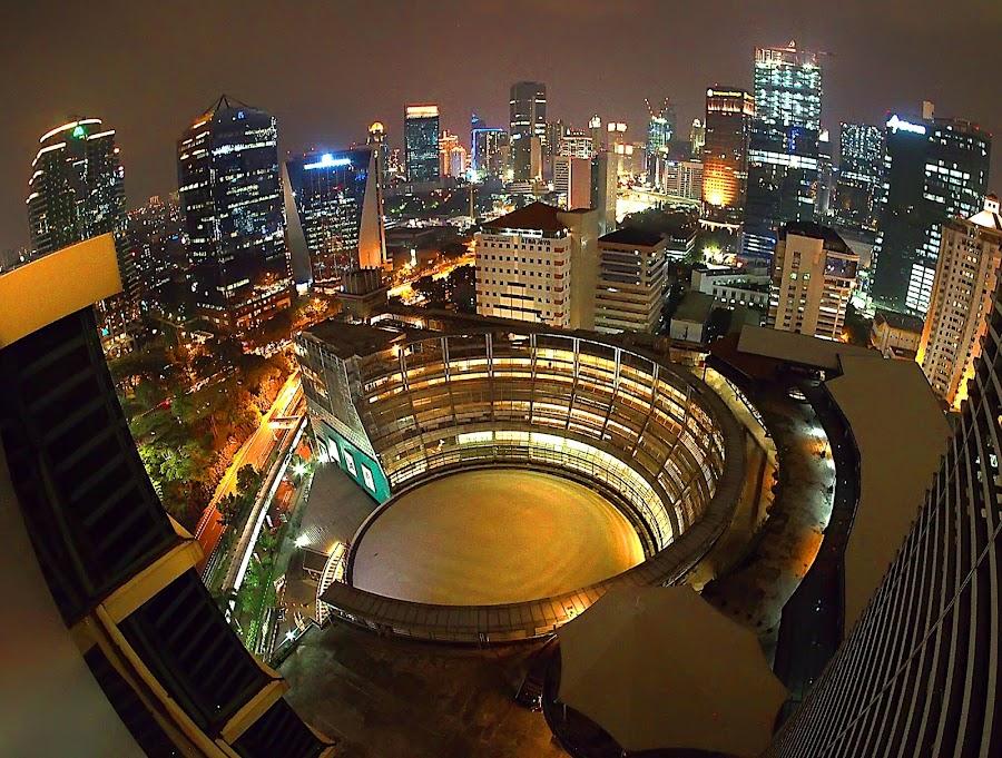 Jakarta in the night by Bani Gunadi - City,  Street & Park  Night