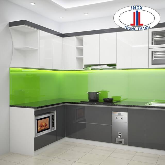 Tủ bếp trắng