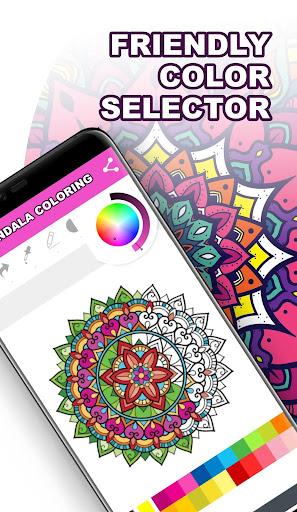 Mandala Coloring Book for Free screenshot 5