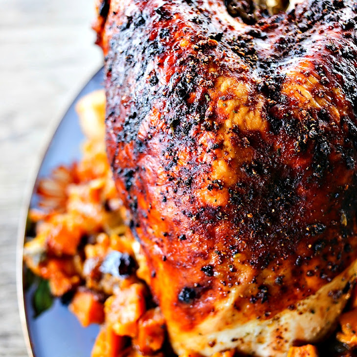 1-Dish Roasted Turkey Breast Dinner with Sweet Potatoes