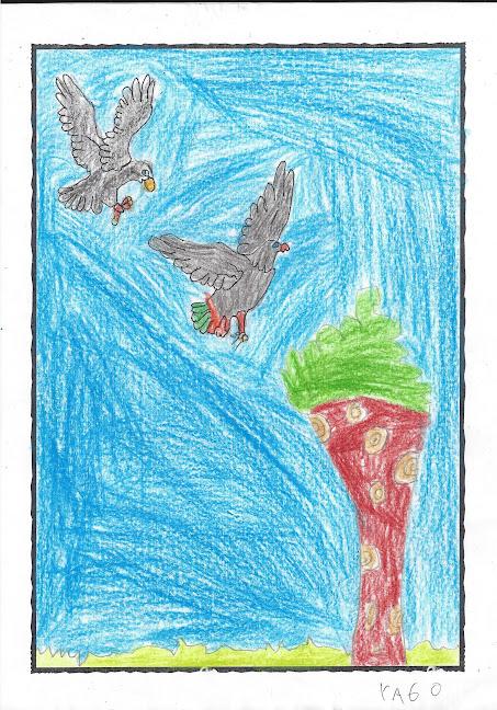 Lenda do corvo e o gavilán