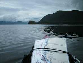 Photo: Approaching my campsite in Sand Bay on Stephens Passage.
