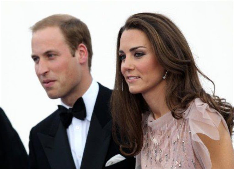 Britain's Duke and Duchess of Cambridge, Prince William (L) and Catherine.