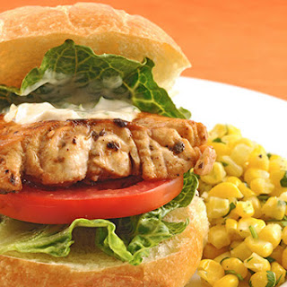 Pan-Seared Grouper Sandwiches with Mojo Mayo.