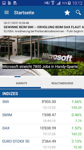 finanzen.ch Börse Aktien