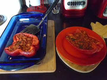 Ali's Turkey-Stuffed Red Peppers