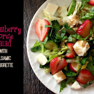 Strawberry Caprese Salad with Balsamic Vinaigrette