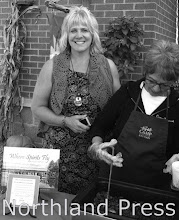 Photo: Lakes Area Gallery & Frame Shoppe - Kristi Kraemer of Lakes Area Gallery fabulous Chili recipe was prepared and served by Camp Knutson volunteers - photo by Paul Boblett