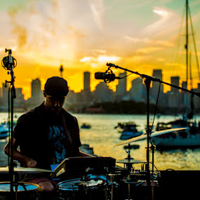 The Preston by Kelly Hulme - People Musicians & Entertainers ( band, sunset, musician, drums, sydney )