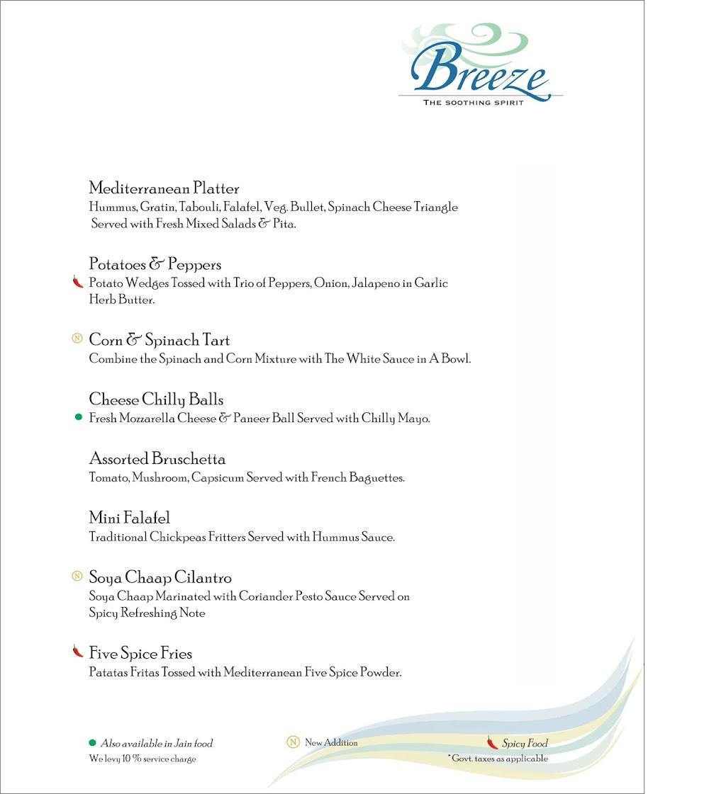 Breeze Lounge menu 4