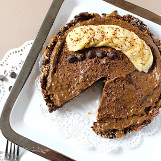 Vegan Chocolate Banana Pudding Pie {Raw, Nut Free, Soy Free}